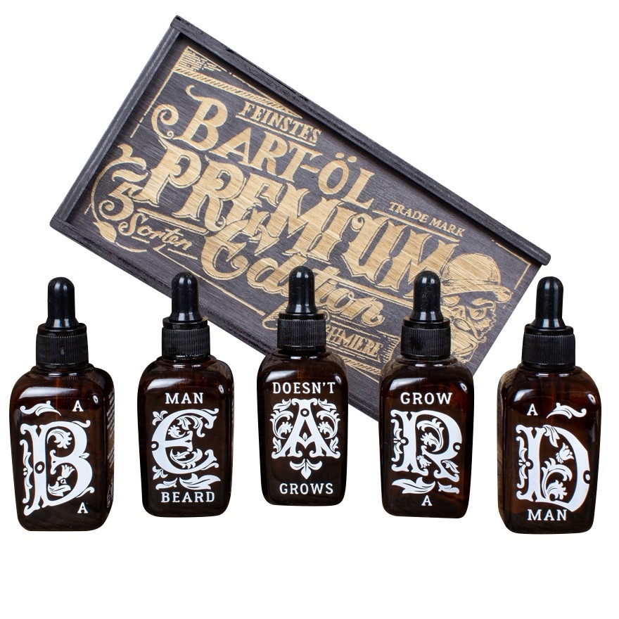 Sada olejů SCHMIERE Set Beard Oil 5 flavours each