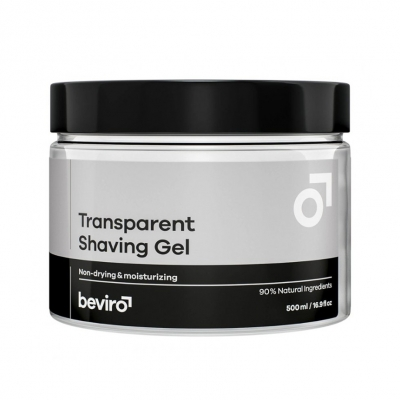 Gel na holení BEVIRO Transparent Shaving Gel 500ml