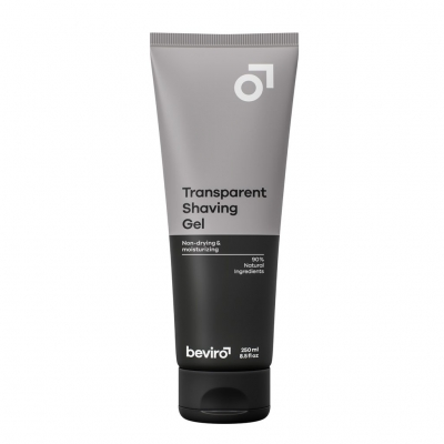 Gel na holení BEVIRO Transparent Shaving Gel 250ml